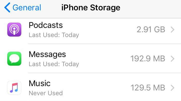 Podcasts Storage