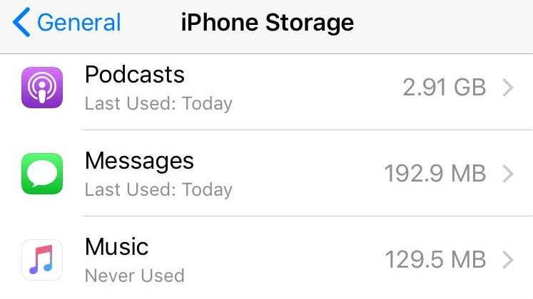 Podcasts Storage