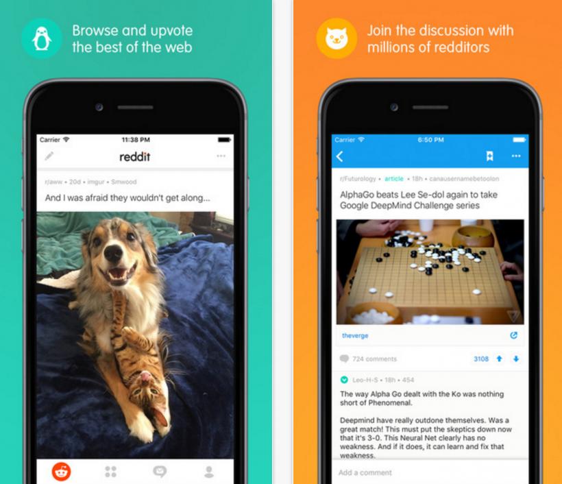 Reddit official iOS app