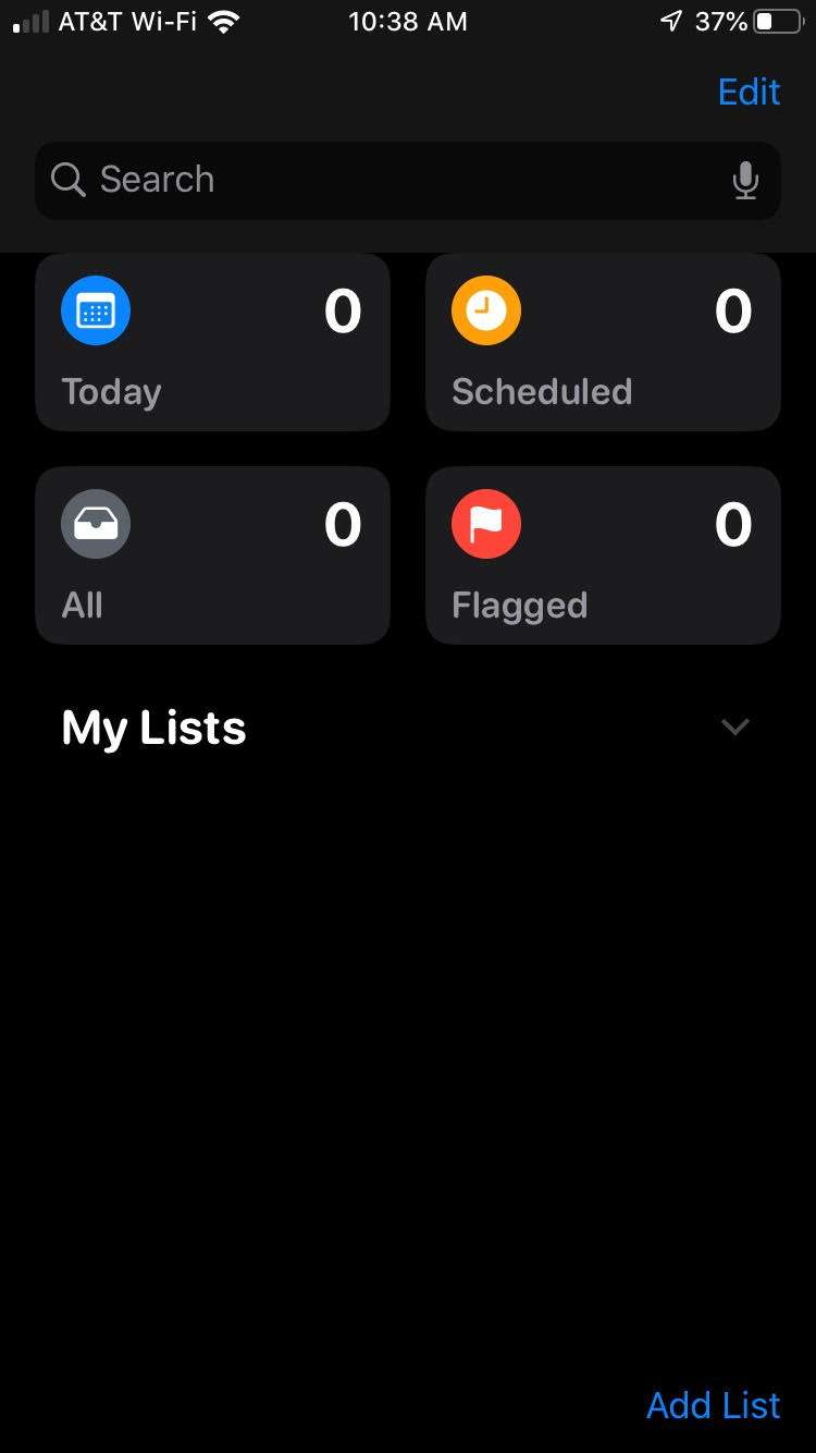 Reminders iOS 13