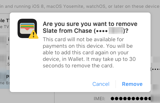 How to remove a credit or debit card from Apple Pay.