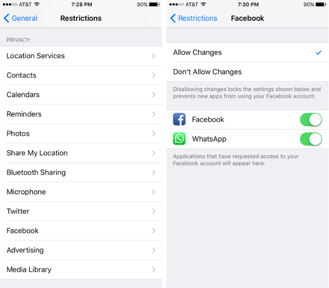 How to use the restrictions settings on iPhone.