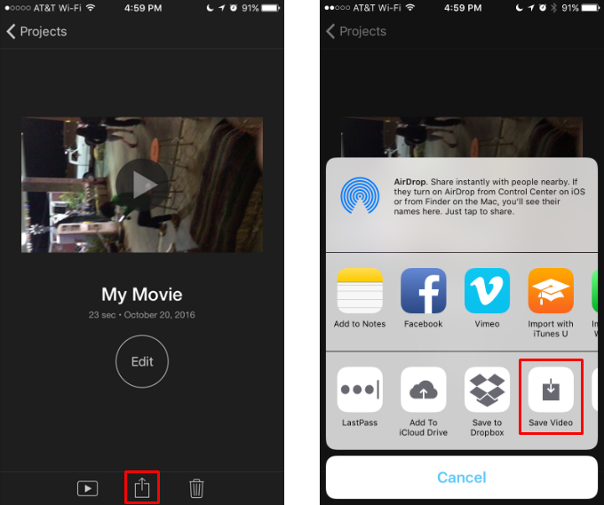 How to rotate iphone videos the iphone faq how to change an iphone video from landscape to portrait orientation ccuart Images