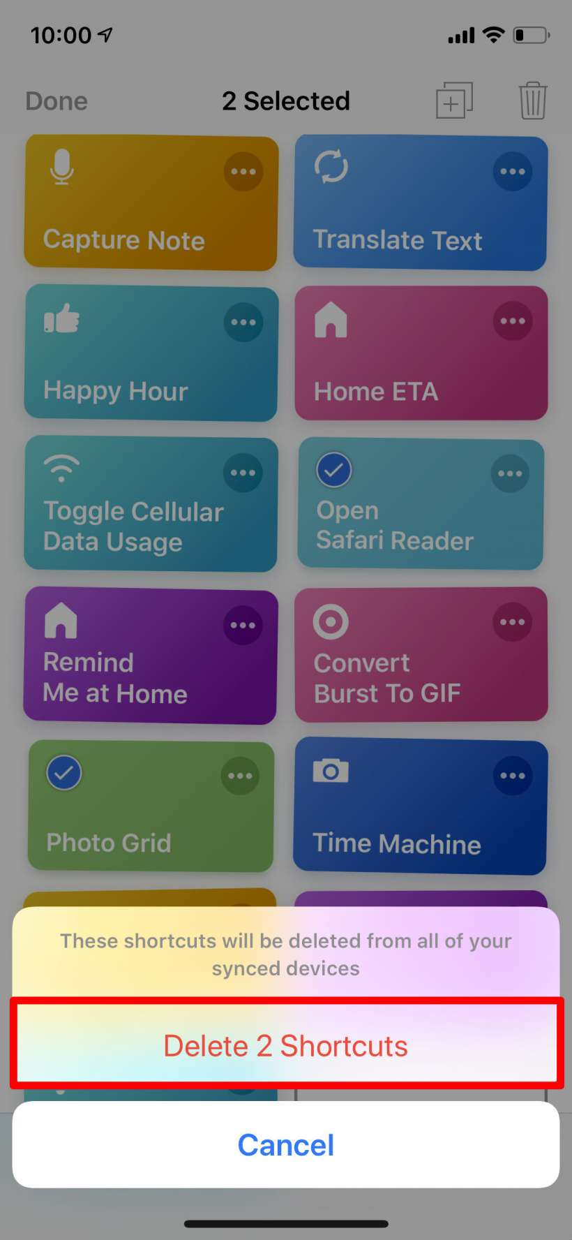 How to remove shortcuts from the Shortcuts Library on iPhone and iPad.