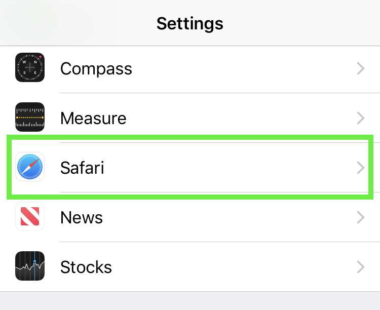 Safari tabs Settings
