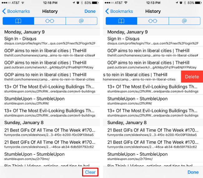 How to erase Safari web browsing history on your iPhone or iPad.