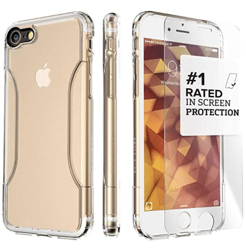 SaharaCase Clear Protective Kit Bundle iPhone SE 2020