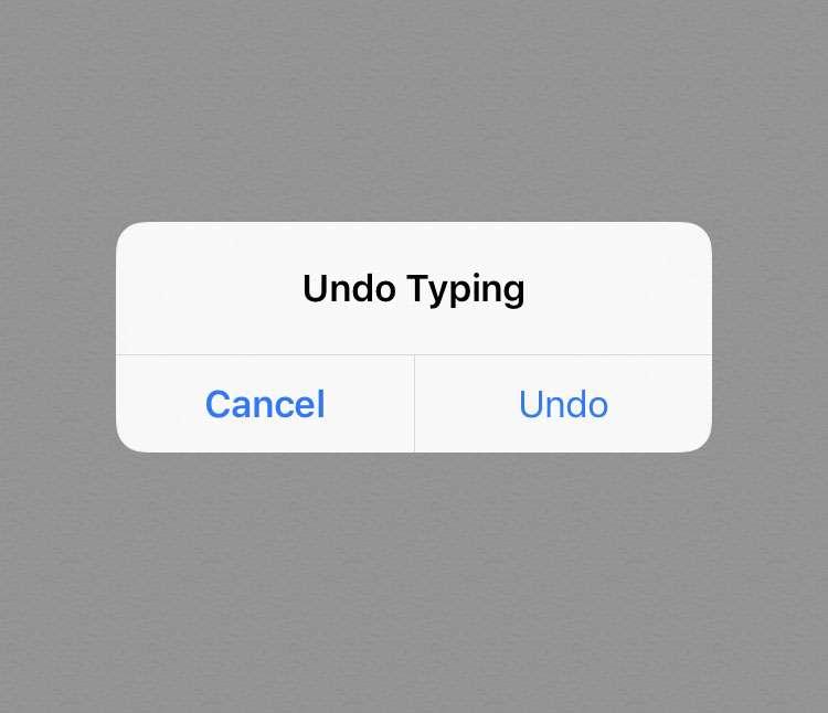 iOS shake to undo