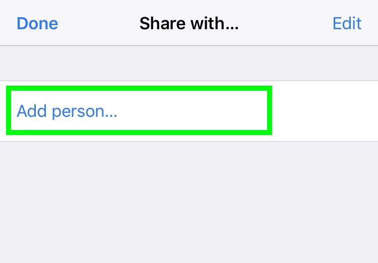 Share Reminders iCloud 3