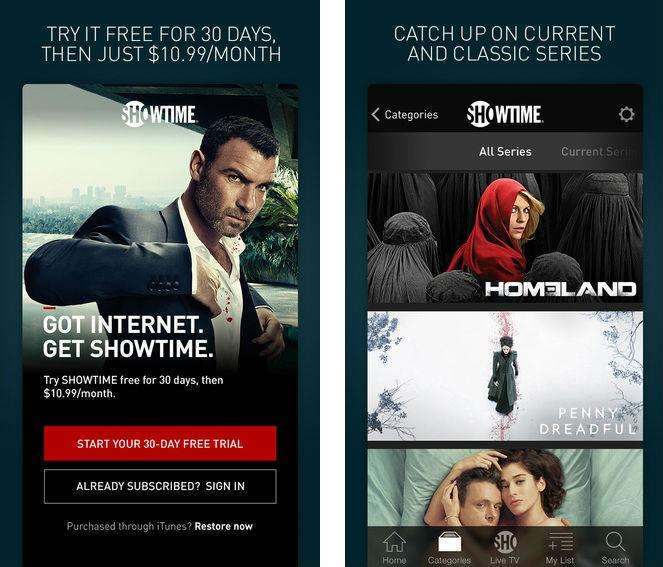 Showtime Streaming