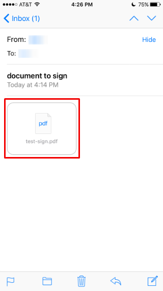 How to add a signature to a document from iPhone.