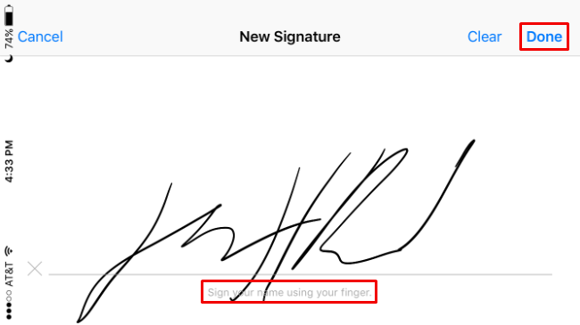 How to write a signature file