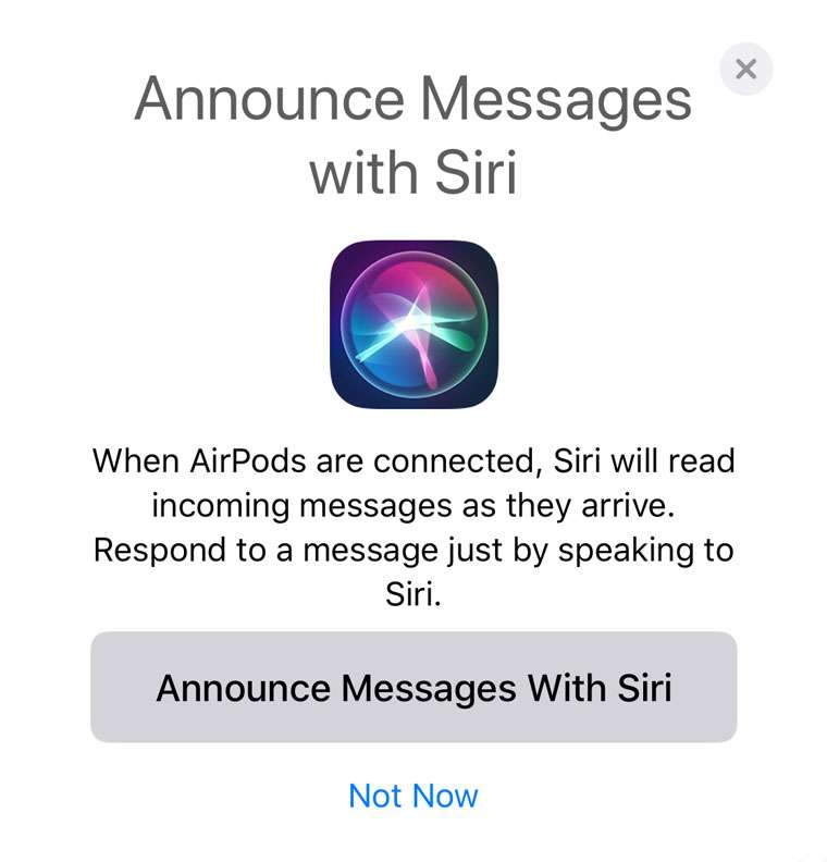 Siri Announce Messages