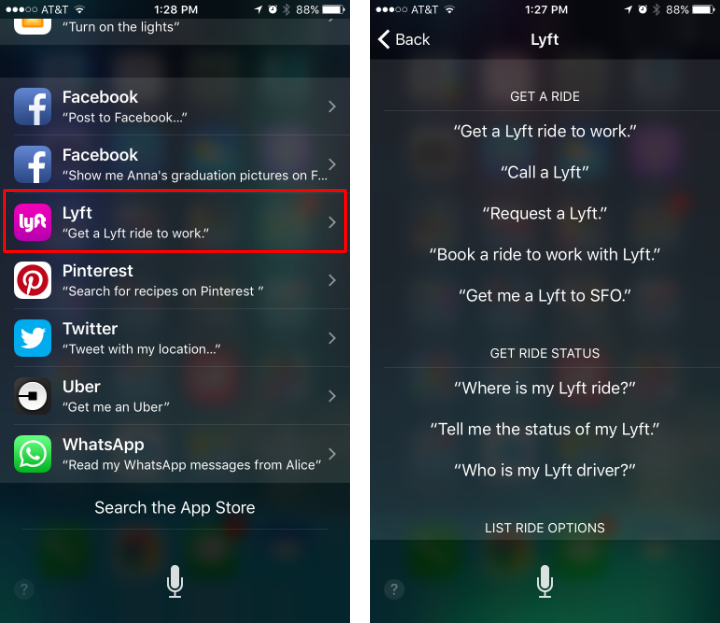 How to see what Siri commands work with third-party apps on iPhone and iPad.