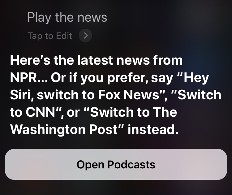 Siri news