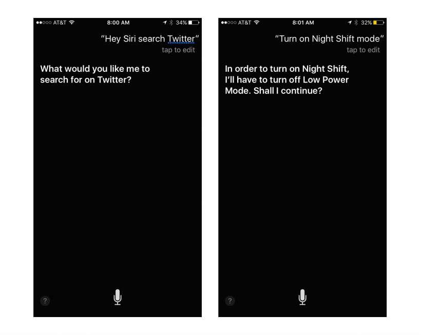 Siri Night Shift