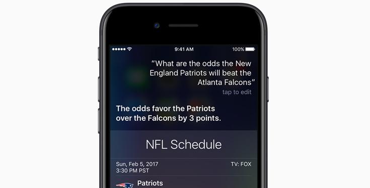 NFL Schedule Siri
