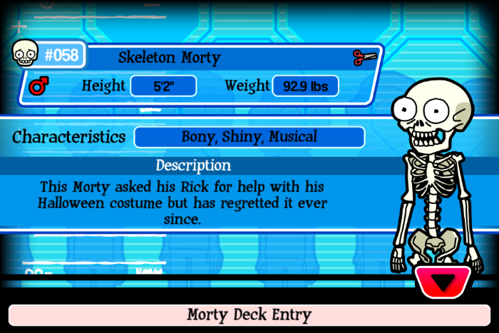 Skeleton Morty