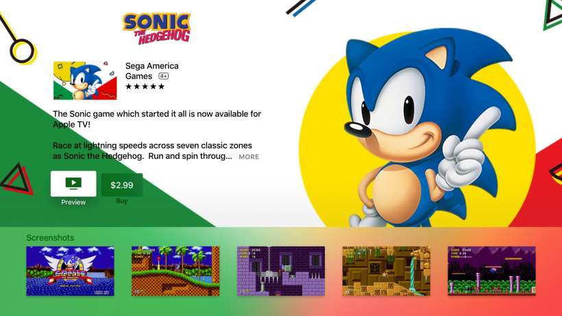 Sonic The Hedgehog Apple TV