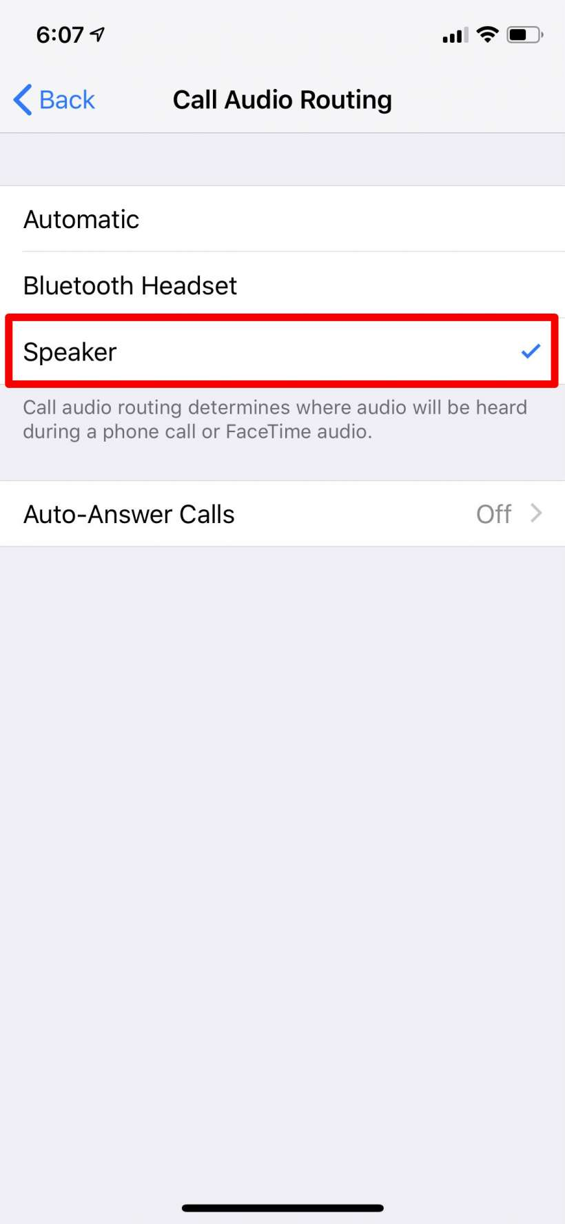 How to automatically turn on speakerphone on iPhone.