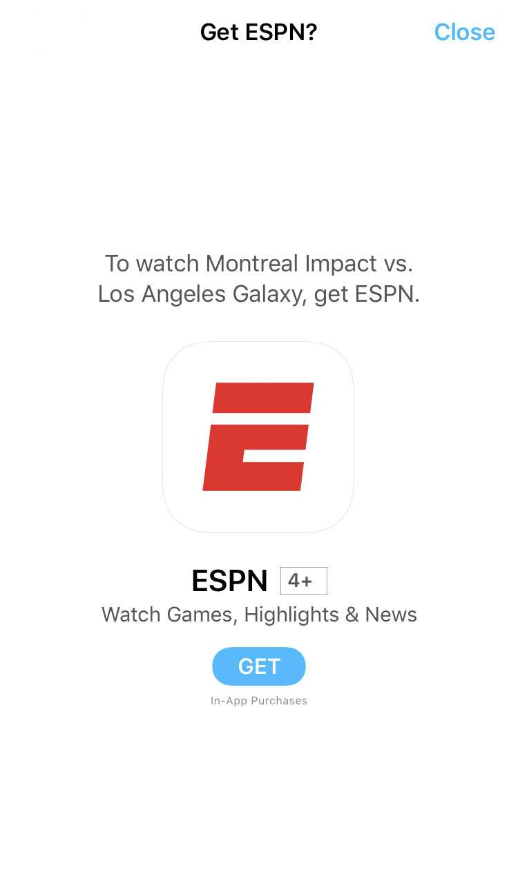 TV app Sports subscriptions 2