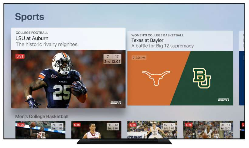 Live Sports Apple TV app