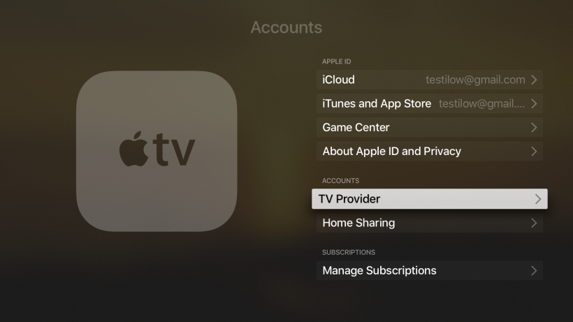 Single Sign-On Apple TV 4G