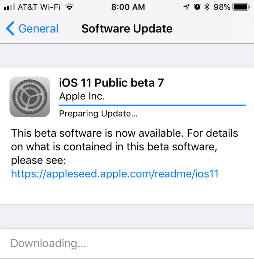 How to fix a frozen iOS Public beta installation.