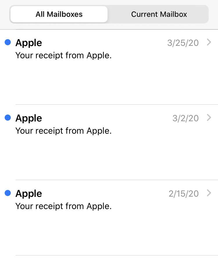 Opt out of Apple receipt emails