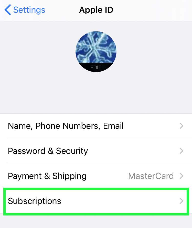 Toggle Apple subscription emails 2
