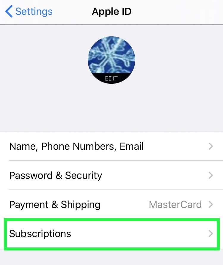 تبديل Apple رسائل الاشتراك 2