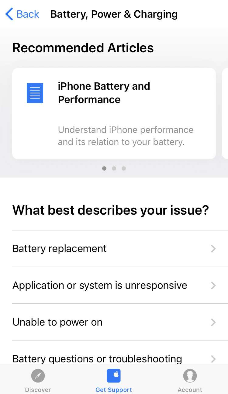 Apple Support app 5 iPhone iOS