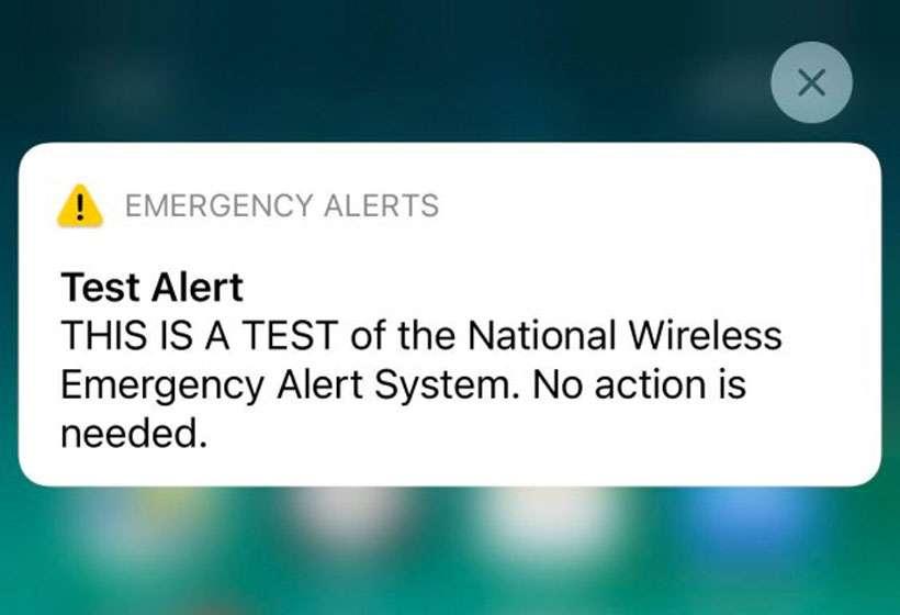 FEMA test iPhone