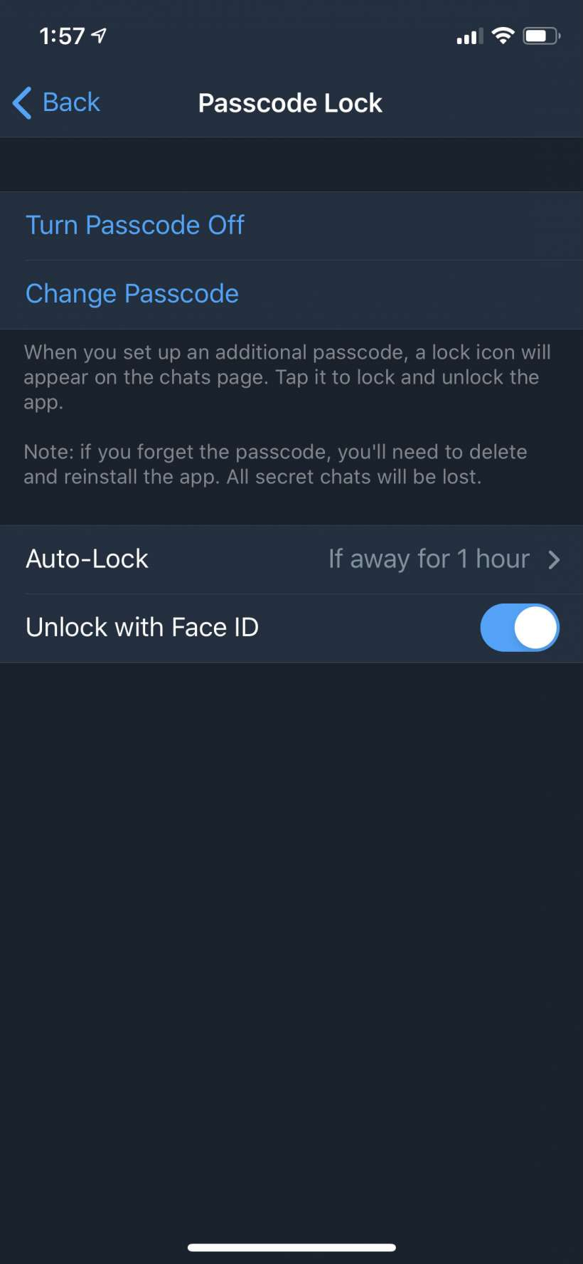 How to lock Telegram chats with a PIN code password on iPhone and iPad.