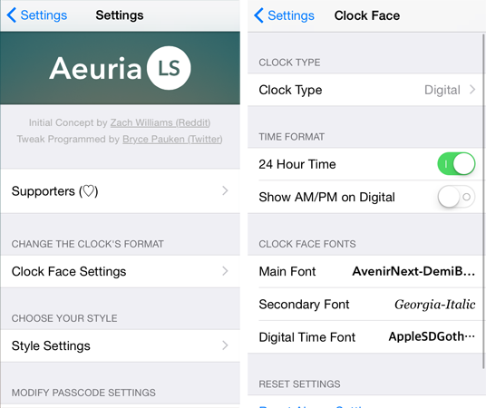 Add class to the iPhone lock screen with Aeuria LS | The