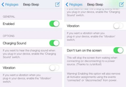 cydia tweak Beep Beep