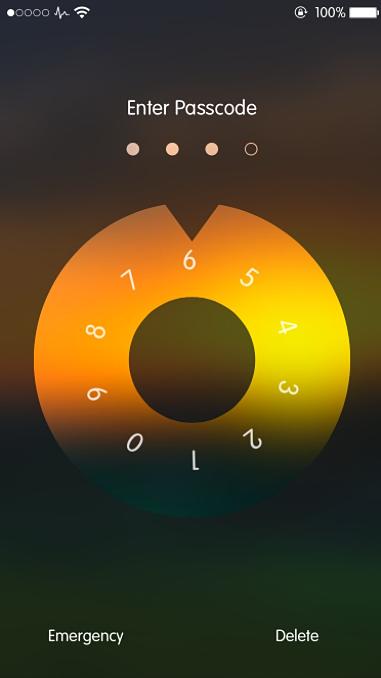 Combination Lock screen