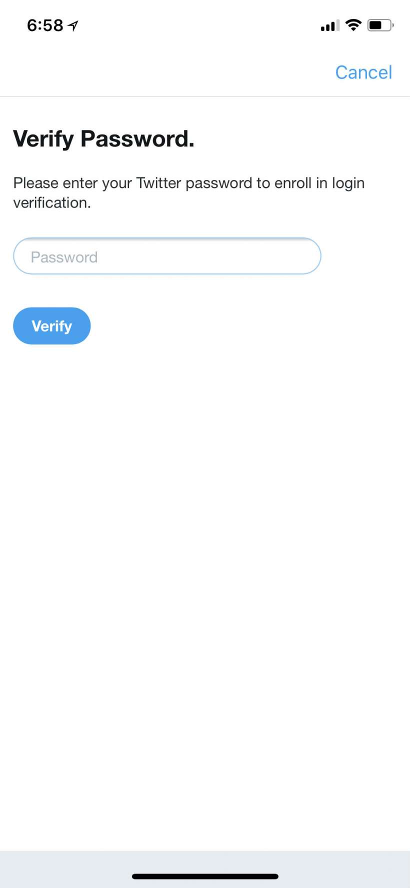 How to change your Twitter password and activate login verification.