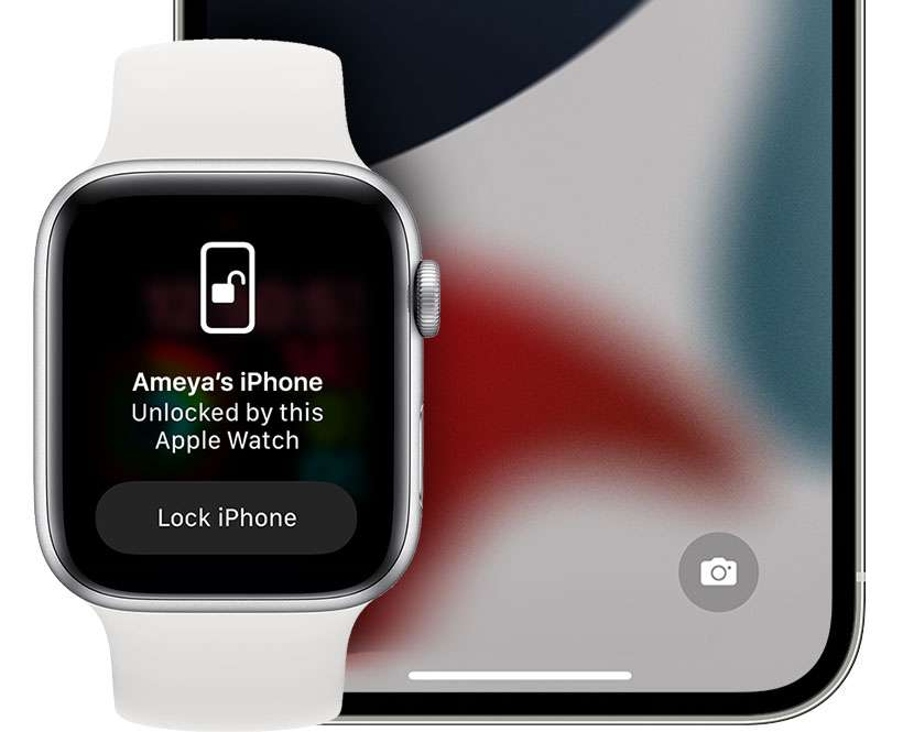 unlock iPhone with Apple Watch face covering