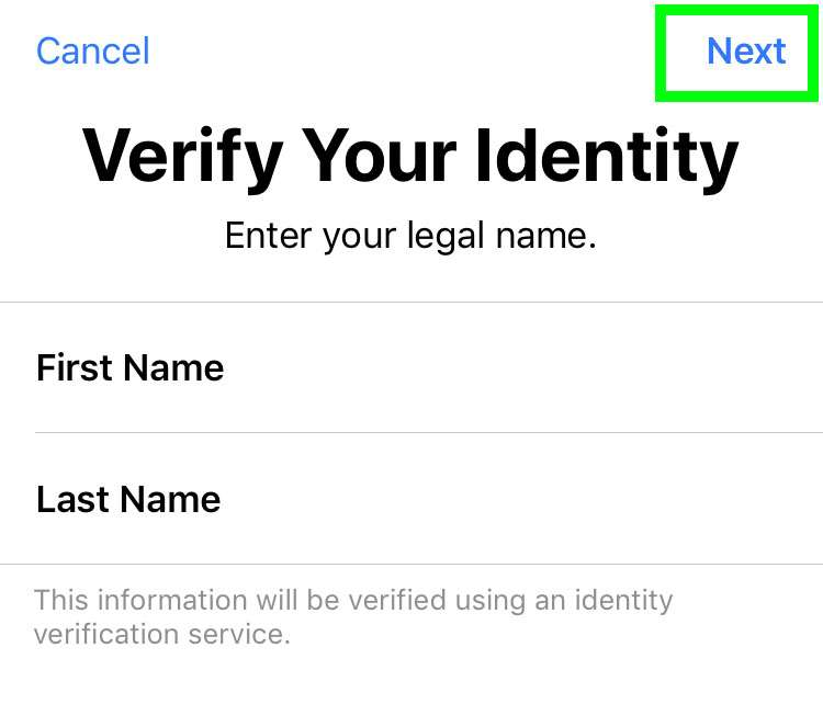 Apple Pay Cash identity verification iPhone