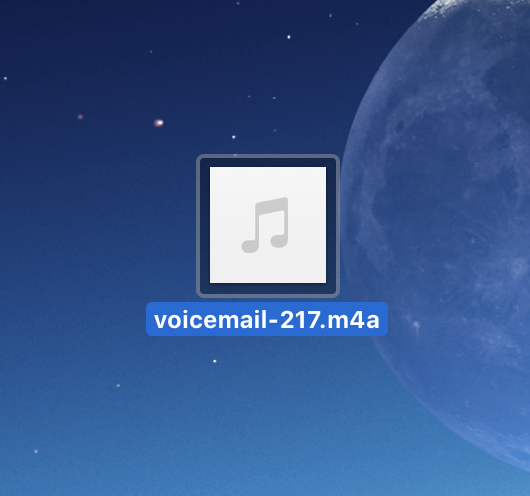 How to transfer a voicemail from your iPhone to your computer.