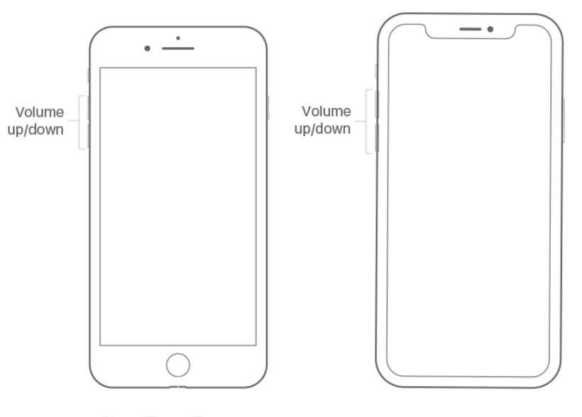 iPhone volume buttons