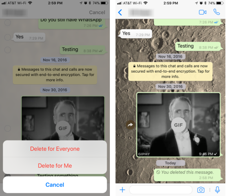 How to delete WhatsApp sent messages on iPhone and iPad.