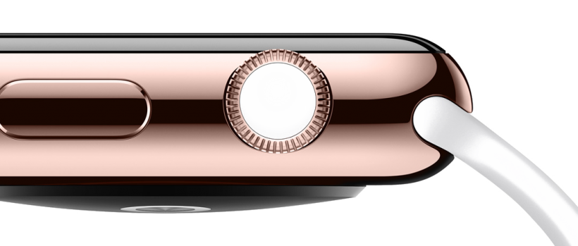 Apple Watch rose gold white sport band