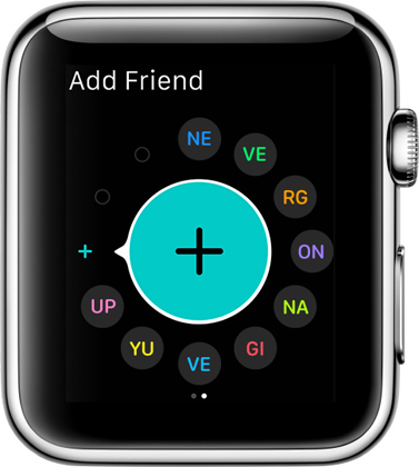 watchOS 2 friends list