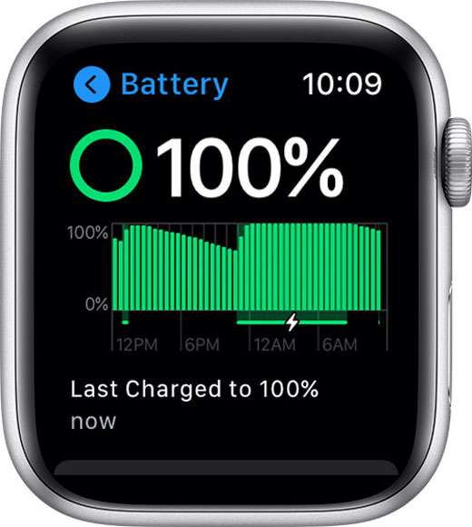 Apple Watch battery status