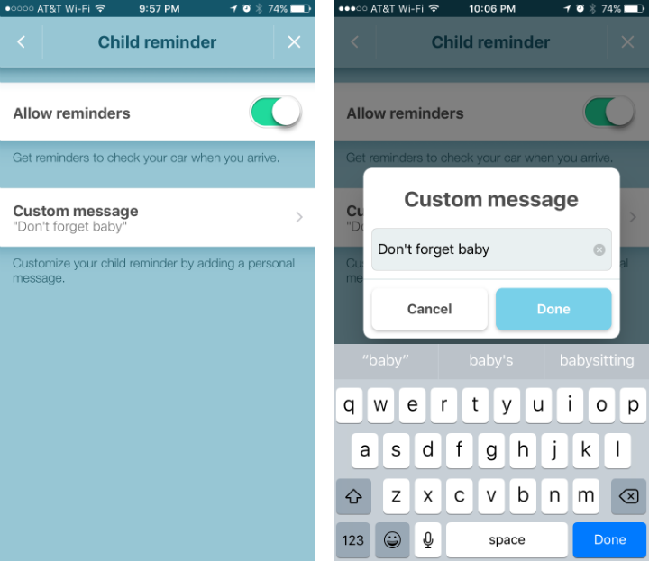 How to use the child reminder in Waze.