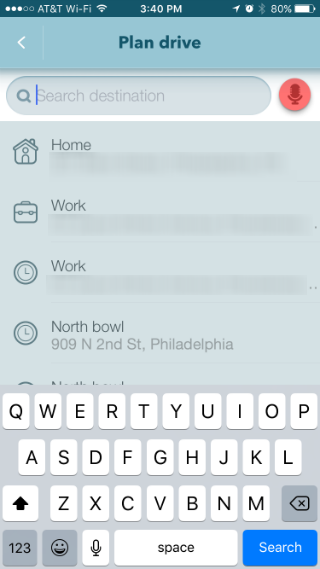 How to schedule navigation with Waze on iPhone.