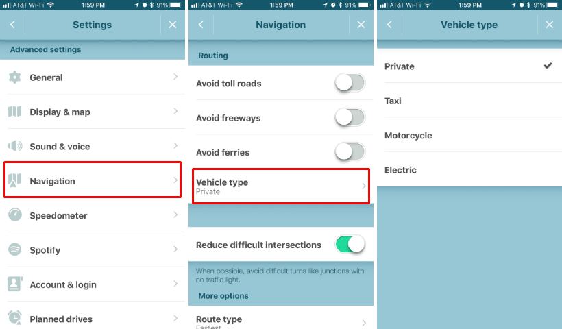 How to change your vehicle type on Waze on iPhone.