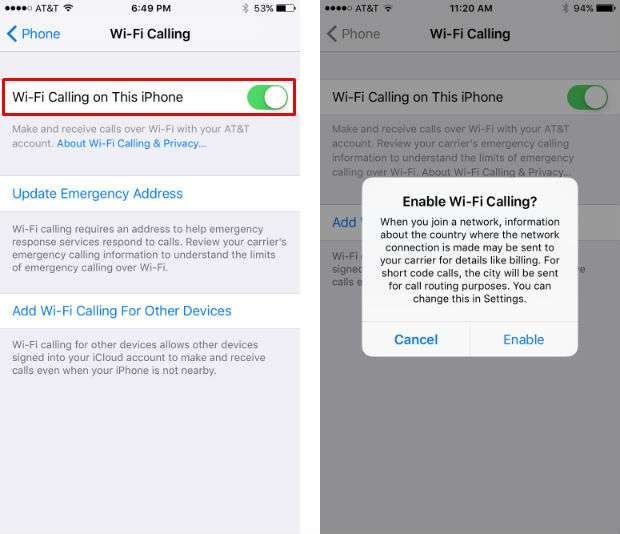 does iphone have wifi calling how to enable wi fi calling on iphone and why you should 16878